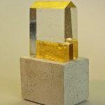 Maison d'or /verre, béton, feuille d'or