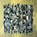 J+foule bloc /acrylique sur toile 100x100cm