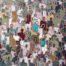 J+homme au J_jaune /acrylique sur toile 80x80cm