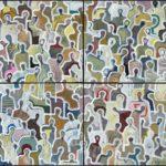 J+la salopette /100x100cm(4x50x50) VENDU
