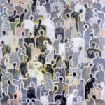 J+l'homme écarlate /acrylique sur toile 100x100cm VENDU