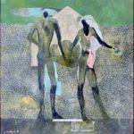 J+un couple /acrylique sur toile 100x100cm