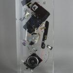 Cliché Konica /cristal de synthèse 45x16x10cm