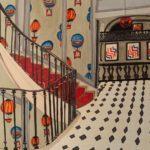 L'escalier du St James /feutre sur papier aquarelle 24x30cm