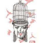 La Cage /encre sur papier 30x40cm