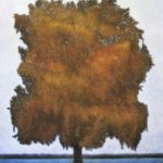 L'arbre /pastel et acrylique sur toile 122x112cm encadré
