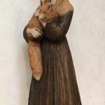 La bohémienne au renard /grès ciré 65x25x25cm