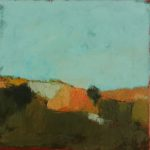 La colline /huile sur toile 30x30cm