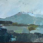 La montagne bleue /huile sur toile 40x120cm