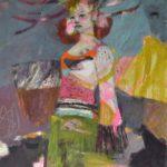 La petite effrontée /technique mixte sur toile 116x90cm VENDU