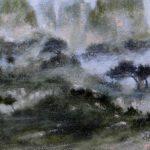 Landscape VII /acryl sur bois 34x37.5cm
