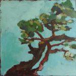 L'arbre qui danse 2 /huile sur toile 40x40cm
