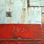 Le chalutier rouge /acrylique sur toile 97x130cm