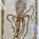 Octopus /tech mixte sur papier 65x50cm