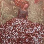 L'envol /huile sur toile 91x73cm