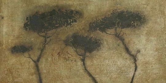 Les trois pins II /tech mixte sur toile 50x65cm
