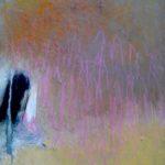Abstraction 744 /acrylique sur toile 37x25cm
