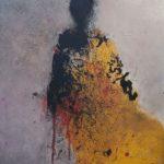 Silhouette 583 /acrylique sur toile 41x33cm