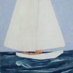 La Sirène /gouache-crayon/papier ciré 81x65cm