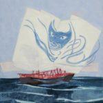 Les Pirates Chinois /gouache-crayon /papier ciré 81x65cm