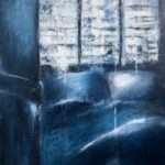 Les volets clos /huile sur toile 116x89cm