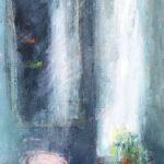 Au-delà du miroir /huile sur toile 150x50cm