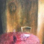Histoires peu ordinaires /huile sur toile 50x50 cm