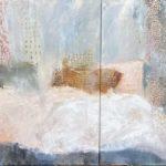 La vie en rose /huile sur toile 100x100+100x80 cm