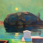 Night seascape /huile sur toile 40x30cm