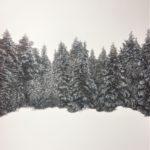 Norvège /acrylique et pastel 50x50cm encadré sous verre