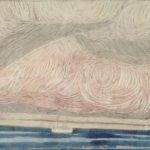 Marine Nuages /technique mixte marouflé sur toile 60x100cm VENDU