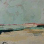 Océan par temps gris /huile sur toile 40x120cm