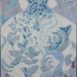 Oh qu'elle est bleue! /tech mixte marouflé sur toile 114x84cm