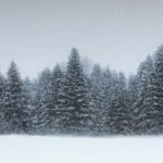 Pays blanc /acrylique et pastel/ 19x80cm encadré sous verre
