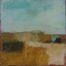 Paysage 1 Ocre /hst 30x30cm