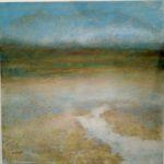 Paysage, huile sur toile 100x100cm