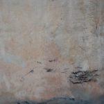 Paysage aux oiseaux 2 /tech mixte marouflée sur toile 72x38cm