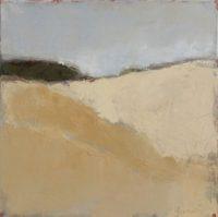 Paysage beige /hst 40x40cm