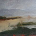 Paysage par temps gris /huile sur toile 80x60cm