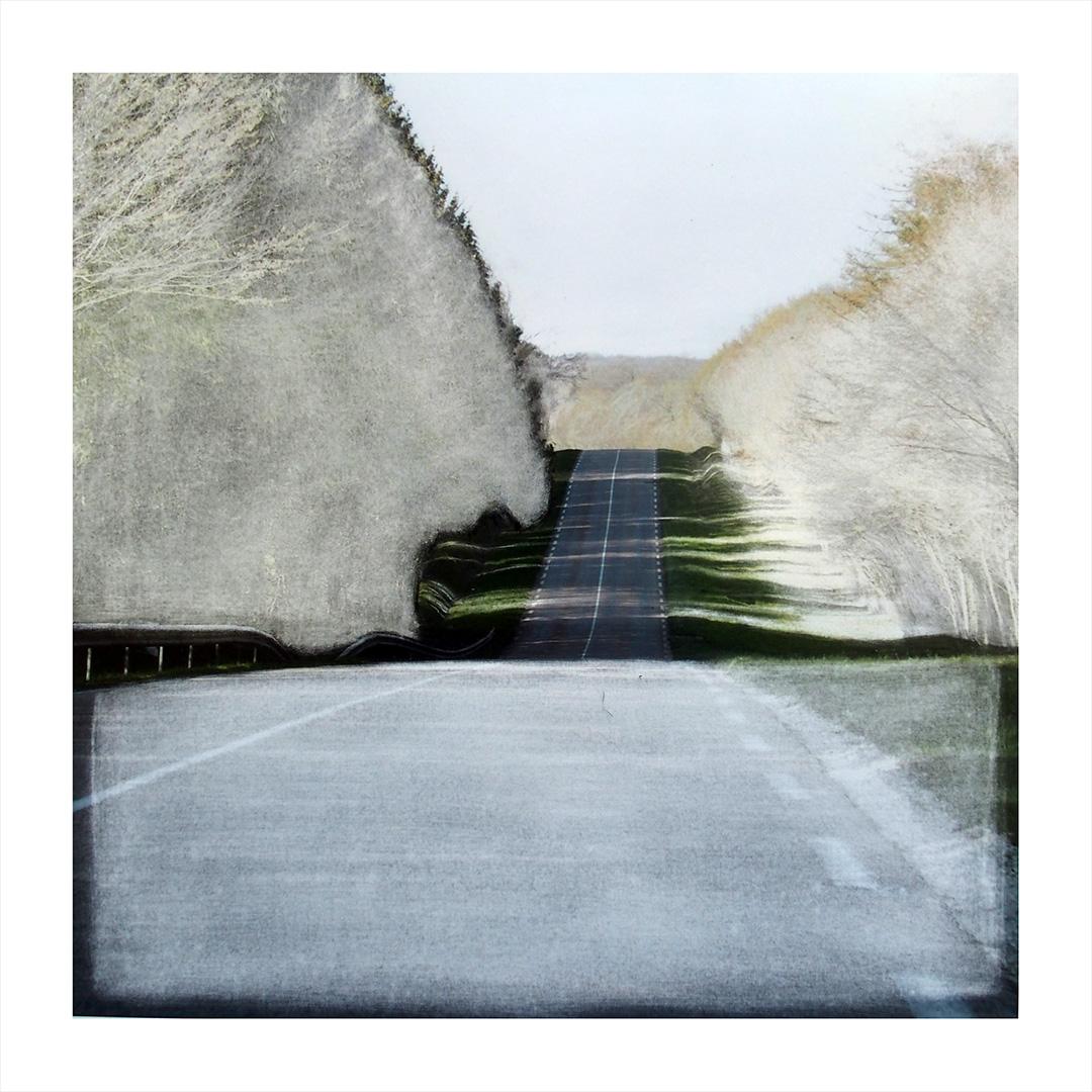 Paysage sur route 16 /Photographie dépimentée /tirage unique 30x30cm