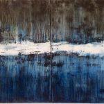 Paysages-Reflets de l'oubli 1 /huile sur toile diptyque 65x81x2 VENDU