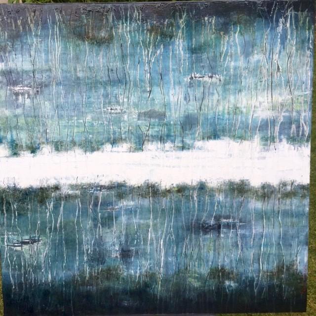 Paysages de la mémoire 3 /huile sur toile 80x80cm
