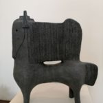 Petit cheval /grès chamotté H40cm