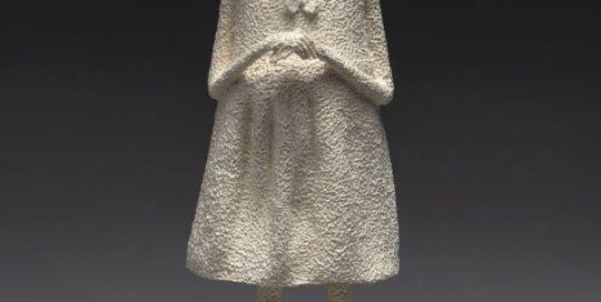 Petit loup - papier mâché H31-12,5cm