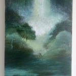 Petite monochromie /acrylique sur bois 51x22,5 cm VENDU