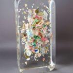 Petites coupures /cristal de synthèse 30x15x10cm