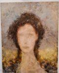 Portrait, huile sur toile 92x73cm