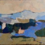 Pyrénées bleues /huile sur toile 40x120cm