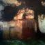 Refuge du Collet /tech mixte sur toile 90x90cm