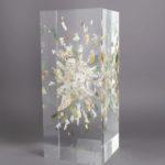 Trésors de plage/L'arapède /cristal de synthèse 25x10x10cm
